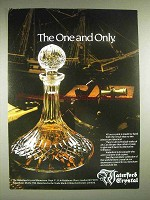 1982 Waterford Crystal Decanter Ad - One and Only
