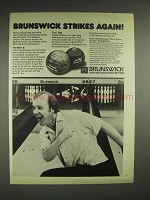 1981 Brunswick Mark X, LT-48 bowling ball Ad - Strikes