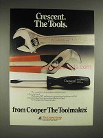 1981 Crescent Tools Ad - Wrench, Pliers, Screwdriver