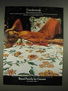 1980 Royal Family by Cannon Linens Ad - Comfortcale