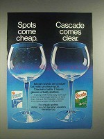 1980 Cascade Dishwasher Detergent Ad - Comes Clear