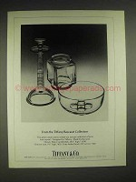 1980 Tiffany & Co. Baccarat Crystal Ad - Vase, Bowl +