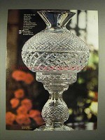 1980 Waterford Crystal Lamp Ad - Infinite Delight