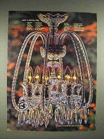 1980 Waterford Crystal Chandalier Ad - Light a Fire
