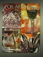 1980 Waterford Crystal Ad - For Art's Sake