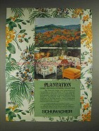 1979 Schumacher Plantation fabric, Wallcovering Ad