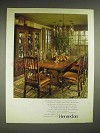 1979 Henredon Hampton Mews Collection Furniture Ad