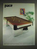 1979 Pace 9969 Pool Table by I.M. Rosen Ad
