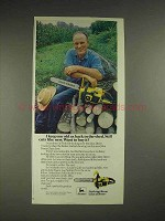 1979 John Deere Chainsaw Ad - Keep Ax Back in the Shed