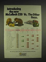 1978 McCulloch PM 320 chainsaw Ad - Vs. The Other Guys