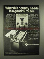 1978 Rockwell International Router, Table Saw Ad