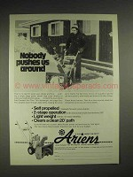 1977 Ariens Sub-compact Sno-Thro Ad - Nobody Pushes Us