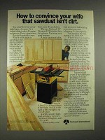 1977 Rockwell International Table Saw Ad