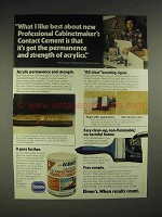 1976 Elmer's Cabinetmaker's Contact Cement Ad