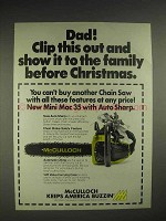 1976 McCulloch Mini Mac 35 chainsaw Ad - Clip This Out