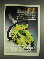 1975 Poulan CounterVibe chainsaw Ad - Absorb Vibration