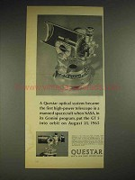 1965 Questar Telescope Ad - First in Spacecraft NASA