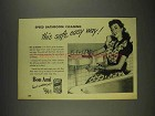 1948 Bon Ami Cleanser Ad - Speed Bathroom Cleaning
