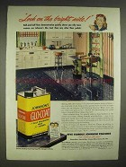 1947 Johnson's Glo-Coat Wax Ad - Look On Bright Side