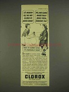 1946 Clorox Bleach Ad - Wonderful Removes Stains
