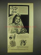1945 Pyrex Oven Ware Ad - Pie Plate - For the Brides