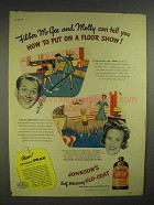 1945 Johnson's Glo-Coat Wax Ad - Fibber McGee, Molly