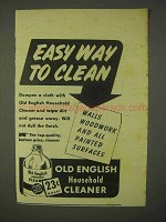 1943 Old English Household Cleaner Ad - Easy To Clean