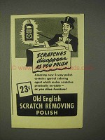 1943 Old English Scratch Removing Polish Ad - Disappear