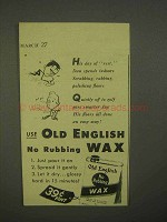 1942 Old English Wax Ad - His Day of Rest