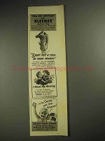 1941 Kleenex Tissues Ad - Don't Put Cold in Pocket