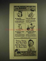 1941 Kleenex Tissues Ad - No Clinkers in my Blinkers