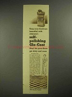 1937 Johnson's Glo-Coat Wax Ad - Self-Polishing