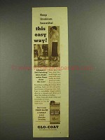 1937 Johnson's Glo-Coat Wax Ad - This Easy Way