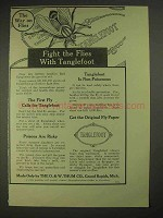 1913 Tanglefoot Fly Paper Ad - Fight The Flies
