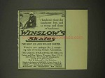 1913 Winslow Ice Skates Ad - For Handsome Feet