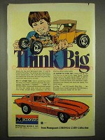 1976 Monogram Big T, '65 Corvette Sting Ray Model Ad