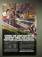 1986 U.S. Army Ad - G.I. Bill, The Army College Fund