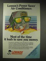 1987 Lennox Two-Speed Air Conditioner Ad - Power Saver