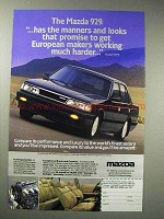 1988 Mazda 929 Car Ad - The Manners and Looks