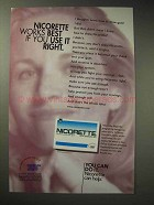 1998 Nicorette Gum Ad - Works Best if You Use It Right