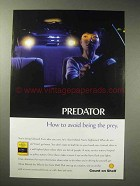 1998 Shell Oil Ad - Predator Avoid Being the Prey
