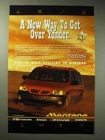 1998 Pontiac Montana Ad - Way to Get Over Yonder