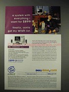 2000 Dell Dimension L Series Computer Ad - Santa Got