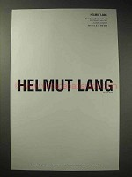 2000 Helmut Lang Fashion Ad