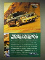 2000 Subaru Outback L.L. Bean Edition Ad - Rugged