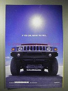 2002 Hummer H2 Ad - If You Can, Maybe You Will
