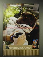 2004 Starbucks Coffee Ad - Welcome Play Fetch