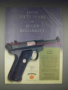 2000 Ruger Mark II Pistol Ad - Reliability