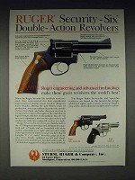1985 Ruger Security-Six, Police Service Six Revolver Ad