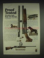 1977 Browning A-5 Shotgun Ad - Proof Tested